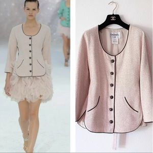 Chanel 2012 spring collection pink tweed jacket